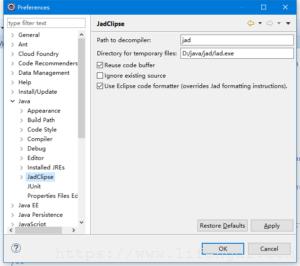 Eclipse反编译插件Jad安装